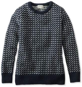 L.L. Bean L.L.Bean 1912 Heritage Sweater, Norwegian Bird's-Eye Crewneck