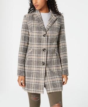 Maralyn & Me Juniors' Plaid Walker Coat