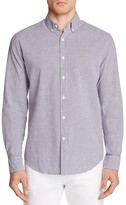 Hardy Amies Micro Check Slim Fit Button Down Shirt