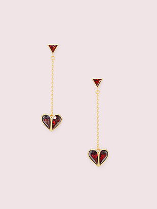 Kate Spade Rock Solid Stone Heart Drop Earrings