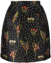 RED Valentino floral pattern A-line skirt
