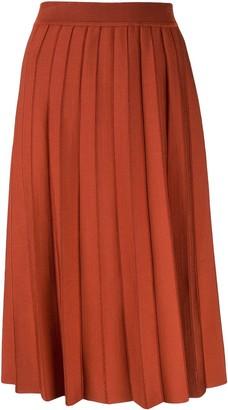 Casasola High Waisted Pleated Skirt