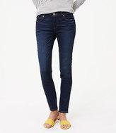 LOFT Curvy Skinny Jeans in Dark Indigo
