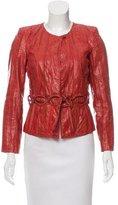Roberto Cavalli Embossed Leather Jacket