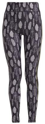 The Upside Gypsy Feather Leggings - Womens - Blue White
