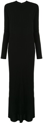 Haider Ackermann Puffed Sleeve Draped Dress