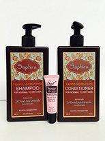 Saphira Keratin Moisturizing Shampoo and Conditioner with 26 Dead Sea Minerals Pure KeratinFree Starry Sexy Kiss Lip Plumping 10 Ml ( 13.5 Oz)