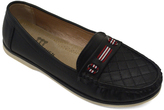 Black Quilted Moccasin