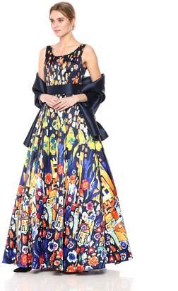 Mac Duggal Women's Bright Multi Print Ballgown