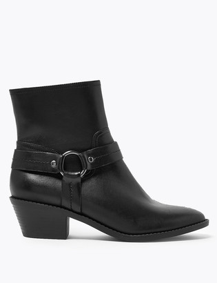 Marks and Spencer Leather Stirrup Ankle Boots