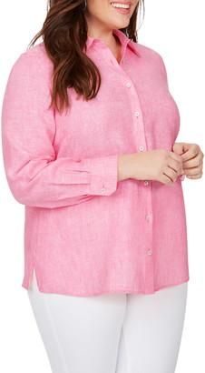 Foxcroft Jordan Long Sleeve Non-Iron Linen Shirt