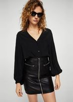 MANGO Puffed sleeves blouse