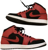 Jordan Air 1 Red Leather Trainers