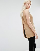 Brave Soul Open Back Sweater Vest