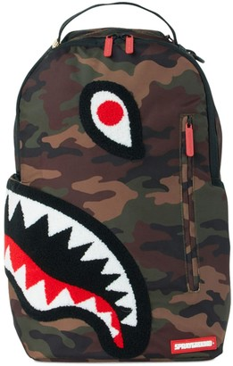 Sprayground Camo Shark Chenille Backpack