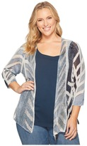 Nic+Zoe Plus Size Shore Pine Cardy Women's Sweater