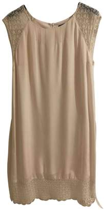 Ikks Beige Silk Dress for Women
