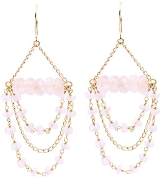 Salome Bridal Collection Tilly Rose Quartz Gemstone Chandelier