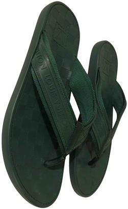 Louis Vuitton Green Rubber Sandals
