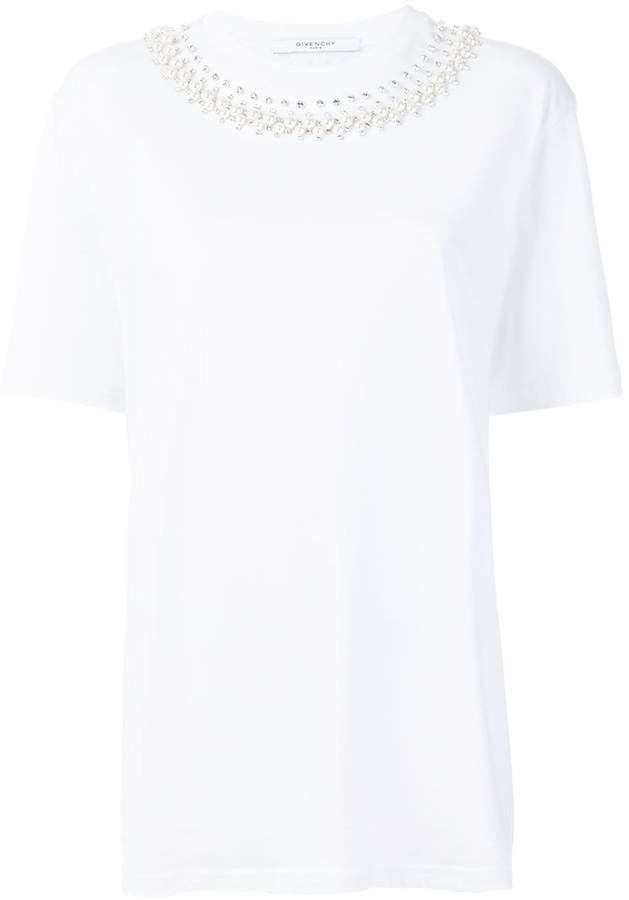 Givenchy embellished-collar T-shirt