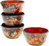 Certified International Rustic Rooster Set of 4 Bowls