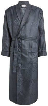 Zimmerli Silk Diamond Pattern Dressing Gown