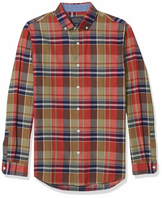 Pendleton Men's Long Sleeve Woven Button Front Madras Shirt