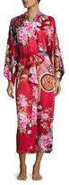 Natori Mikado Printed Charmeuse Robe