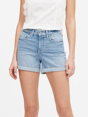 "Banana Republic High-Rise 3"" Cuffed Denim Short"