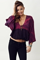 Blue Life Sofia Tie Dye Top in Winelace