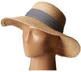 Hat Attack Raffia Braid Lampshade w/ Striped Band Caps