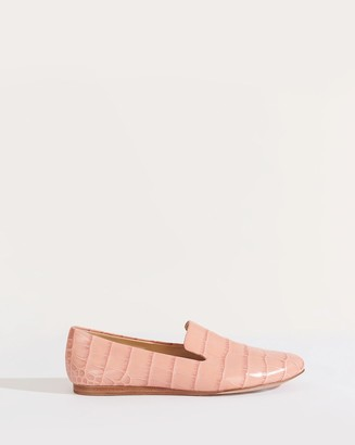 Veronica Beard Griffin Croc-Embossed Loafer