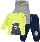 Petit Lem Baby Boys Three-Piece Vest, Top and Pants Set