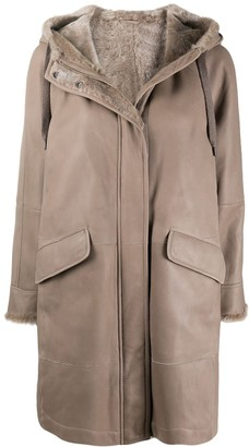 Brunello Cucinelli Shearling-Lined Park Coat