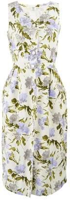 Valentino \N White Linen Dresses