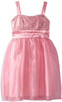 Ruby Rox Girls 7-16 Organza Printed Dress With Sequins