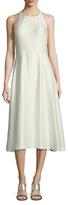 Rachel Roy Mockneck A-line Midi Dress