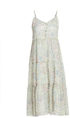 R 13 Tiered Slip Midi Dress
