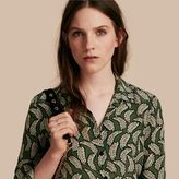 Burberry Leaf Print Silk Shirt