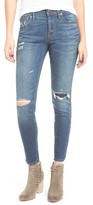 Madewell Women's Ripped & Patched Ankle Skinny Jeans