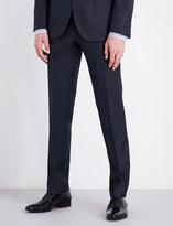 BOSS Birdseye regular-fit wool trousers