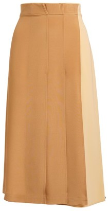 Sportmax Torre Two-Tone Midi Skirt