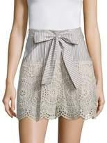 Zimmermann Meridian Striped Silk Shorts