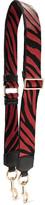 Marc Jacobs Leather-trimmed Zebra-print Canvas Bag Strap