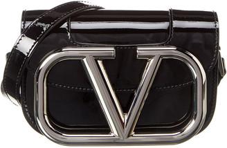 Valentino Supervee Small Patent Crossbody