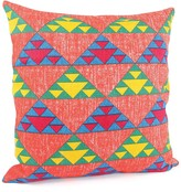 Karma Living Triangle Grid Pillow - 24 x 24 - Orange