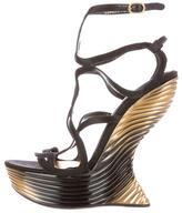 Alexander McQueen Wavy Heel-Less Sandals