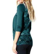 Zenana All Lace Back Three-Quarter-Length Sleeve Open Front Cardigan W/ Pockets