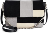 Giani Bernini Suede Patchwork Large Crossbody, Only at Macy's