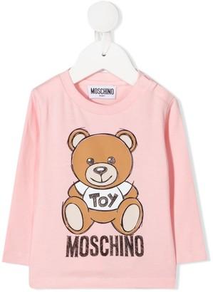 MOSCHINO BAMBINO Teddy crew neck top